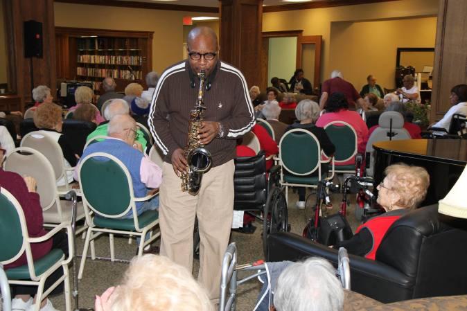 Saxophonist Duane Parham & Seniors