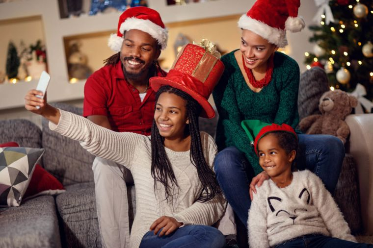 Families love to create a smile with music at Christmas time.