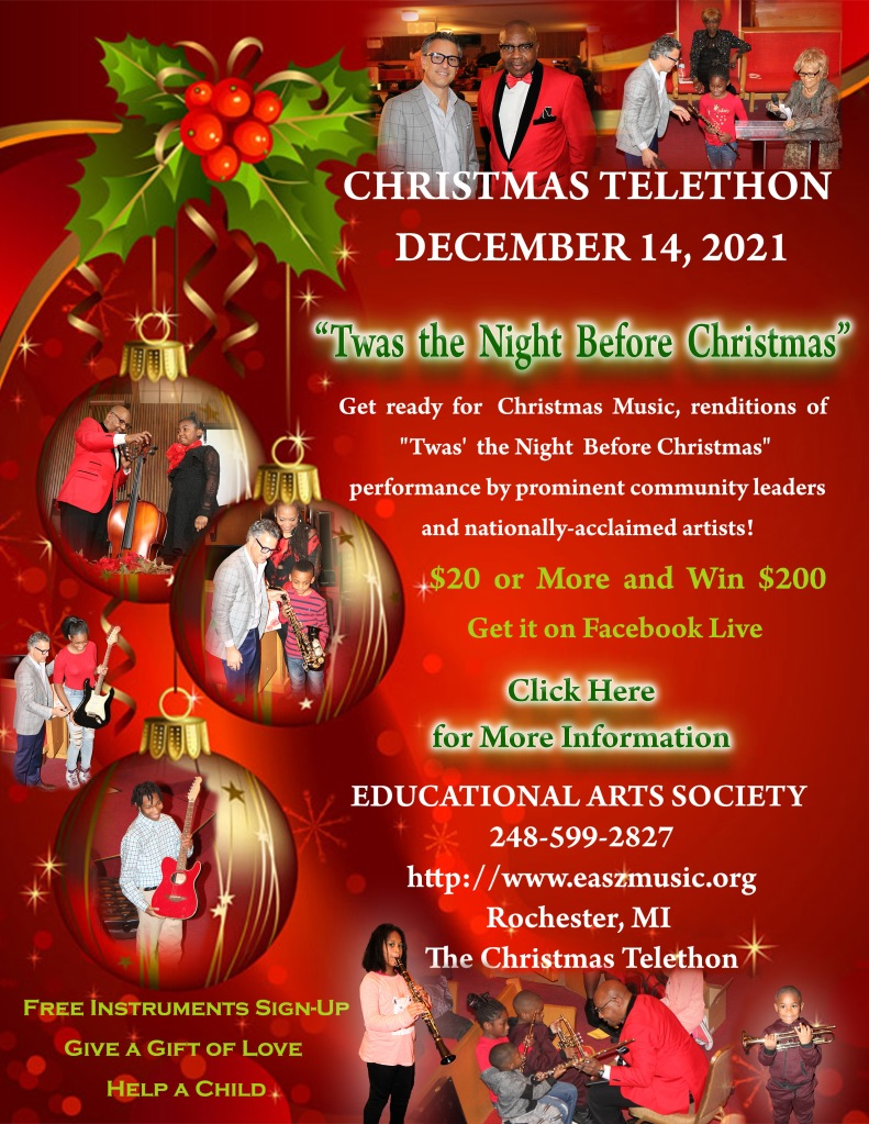 Create a smile with music by attending the Christmas Telethon.